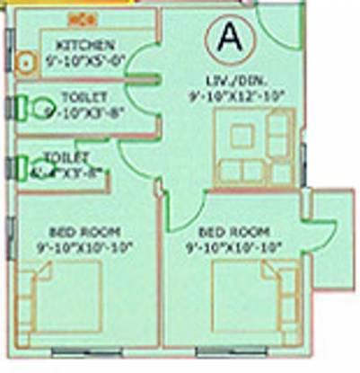 GM Meena Siddhi (2BHK+2T (746 sq ft) Apartment 746 sq ft)