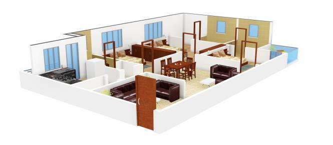 Riddhi Zoa (3BHK+3T (1,550 sq ft) Apartment 1550 sq ft)
