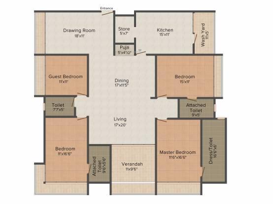 Plastene Aman Heights (4BHK+4T (3,600 sq ft) Apartment 3600 sq ft)