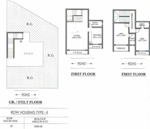 Umiya Uma Paradise Complex (2BHK+3T (2,090 sq ft) Villa 2090 sq ft)