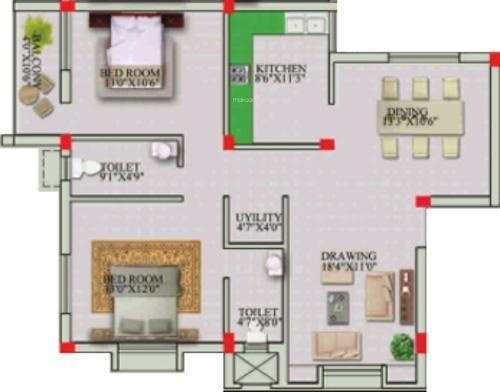 PDN Bhagwati (2BHK+2T (1,320 sq ft) Apartment 1320 sq ft)
