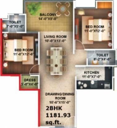 Amna Rolex Estate (2BHK+2T (1,200 sq ft) Apartment 1200 sq ft)