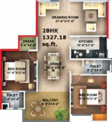 Amna Rolex Estate (2BHK+2T (1,300 sq ft) Apartment 1300 sq ft)