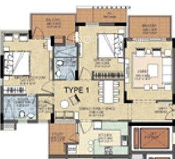 Shalimar Gallant (2BHK+2T (1,450 sq ft) Apartment 1450 sq ft)