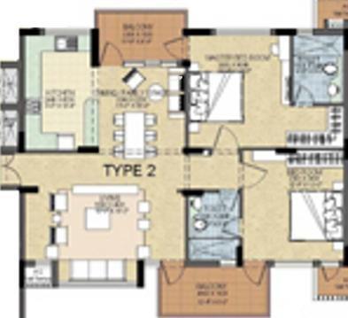 Shalimar Gallant (2BHK+2T (1,500 sq ft) Apartment 1500 sq ft)