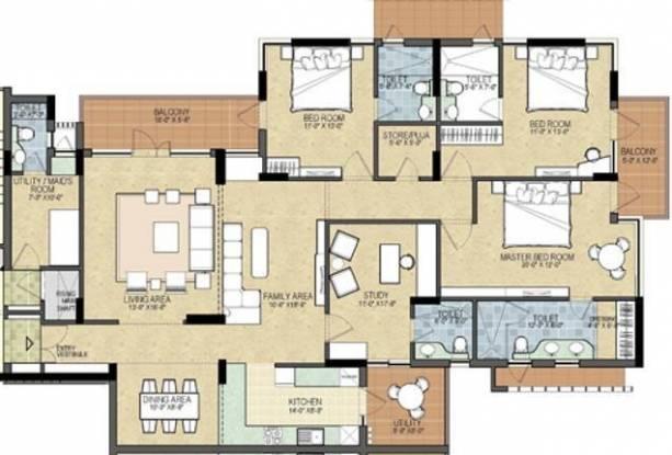 Shalimar Gallant (4BHK+4T (2,500 sq ft) Apartment 2500 sq ft)