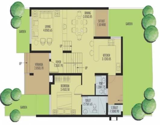 Heritage Exotica Villa (4BHK+5T (2,141 sq ft) + Servant Room Villa 2141 sq ft)