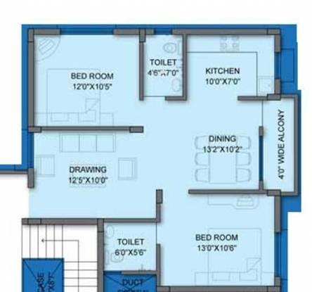 Lifestyle Sai Lifestyle (2BHK+2T (1,000 sq ft) Apartment 1000 sq ft)
