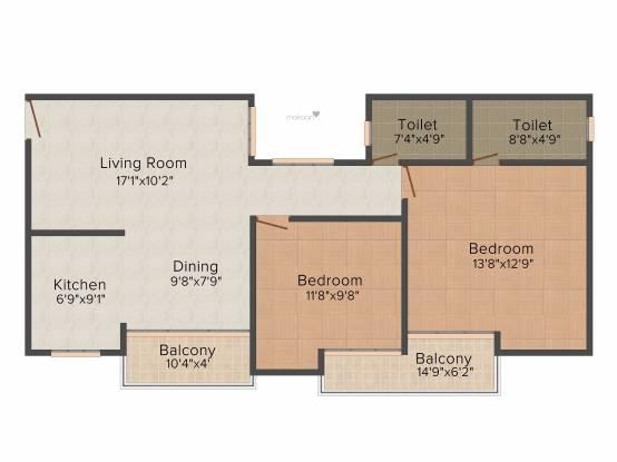 Highbuild Sky Ville (2BHK+2T (1,200 sq ft) Apartment 1200 sq ft)