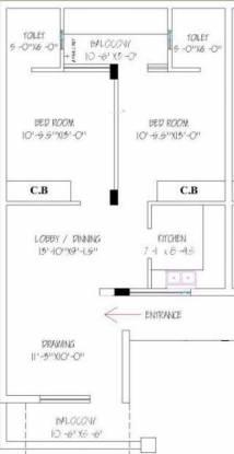 Gillco Budget Homes (2BHK+2T (1,100 sq ft) Apartment 1100 sq ft)