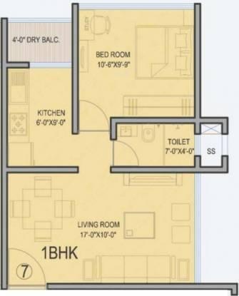 Palazzio (1BHK+1T (625 sq ft) Apartment 625 sq ft)
