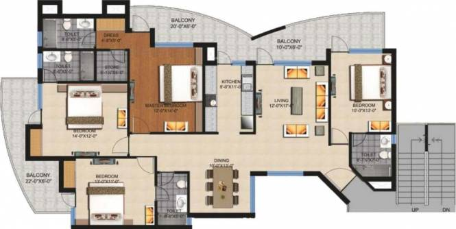 Fortune Victoria Heights (4BHK+4T (2,365 sq ft) Apartment 2365 sq ft)