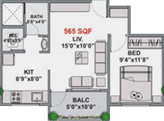 Navkarr Shri Navkar Heights (1BHK+1T (565 sq ft) Apartment 565 sq ft)