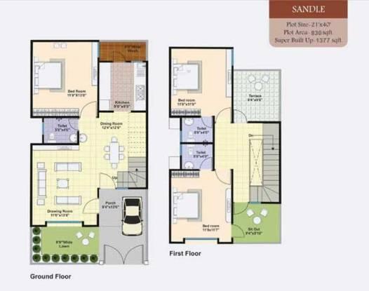 Lakshya Serene Wood (3BHK+2T (1,377 sq ft) Villa 1377 sq ft)