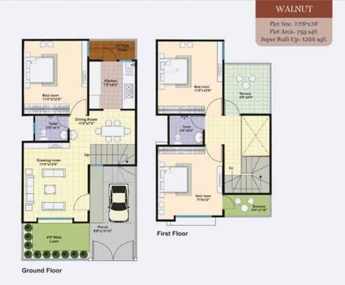 Lakshya Serene Wood (3BHK+2T (1,205 sq ft) Villa 1205 sq ft)
