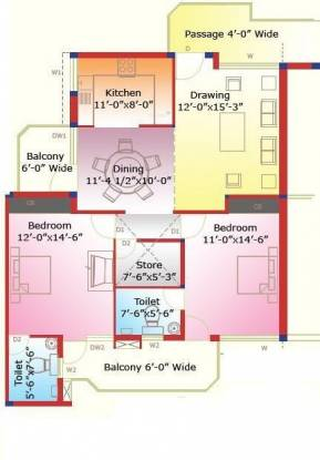 Sliver Silver City Heights (2BHK+2T (1,150 sq ft) Apartment 1150 sq ft)