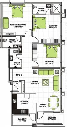 Gurumurty Park Residency (3BHK+3T (1,532 sq ft) Apartment 1532 sq ft)