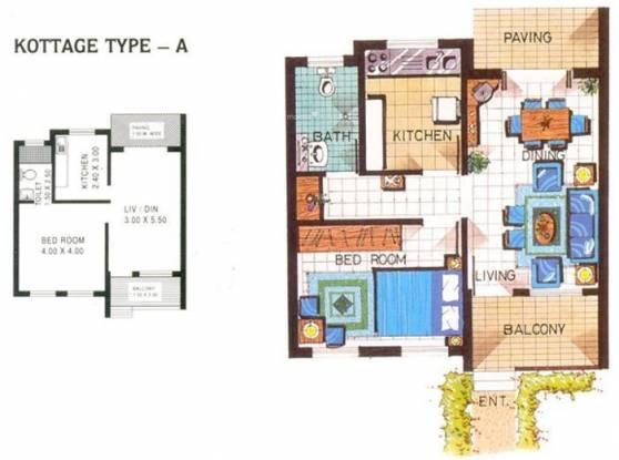 Saldanha Keshia Holiday Kottages (1BHK+1T (667 sq ft) Villa 667 sq ft)