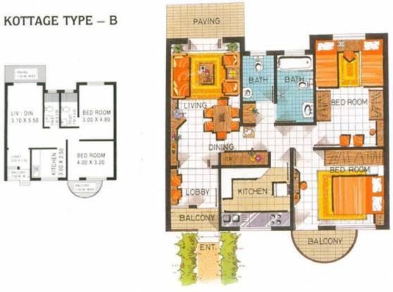 Saldanha Keshia Holiday Kottages (2BHK+2T (969 sq ft) Villa 969 sq ft)