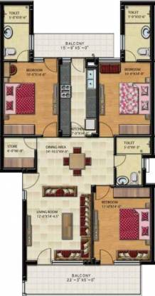 Gillco Palms (3BHK+3T (1,625 sq ft) Apartment 1625 sq ft)