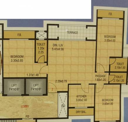 C Teja Sahil Heights (3BHK+3T (1,600 sq ft) Apartment 1600 sq ft)