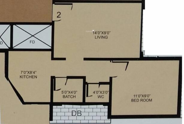 Koteshwar Amrut Darshan (1BHK+1T (725 sq ft) Apartment 725 sq ft)