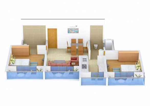 Koteshwar Amrut Darshan (2BHK+2T (1,150 sq ft) Apartment 1150 sq ft)