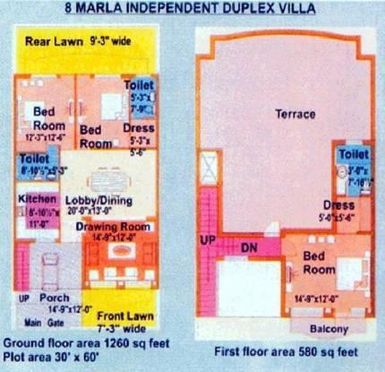 Bajwa Whispering Villas (3BHK+3T (1,840 sq ft) Villa 1840 sq ft)