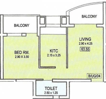 Heritage Heritage princess (1BHK+1T (683 sq ft) Apartment 683 sq ft)