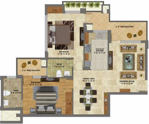 Heights (2BHK+2T (1,250 sq ft) Apartment 1250 sq ft)