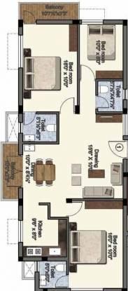 Abhinitha Sri Krishna Vikas (3BHK+3T (1,245 sq ft) Apartment 1245 sq ft)