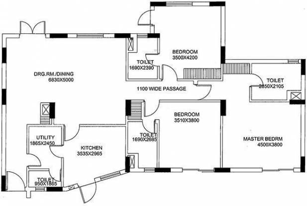 Unitech Gardens (3BHK+4T (1,800 sq ft) Apartment 1800 sq ft)