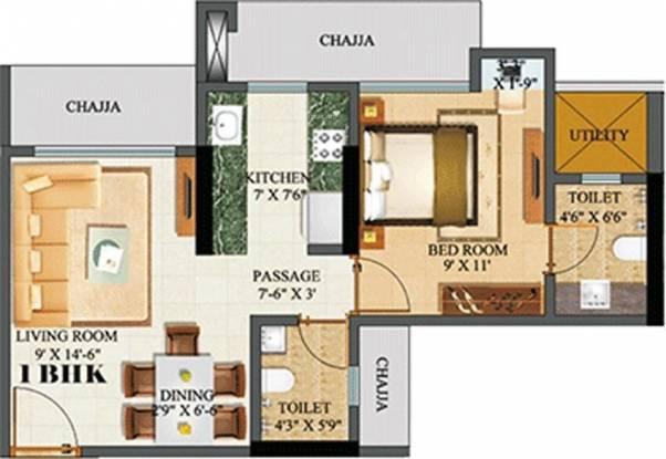 Sethia Green View (1BHK+1T (650 sq ft) Apartment 650 sq ft)