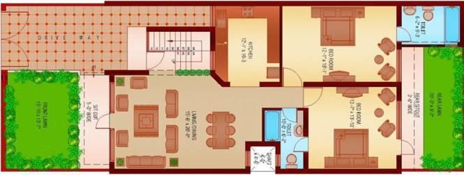 Sanfran Green Homes City (3BHK+3T (1,435 sq ft) Villa 1435 sq ft)