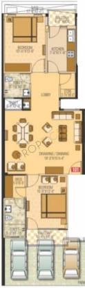 AHFL Aura (2BHK+2T (1,070 sq ft) Apartment 1070 sq ft)
