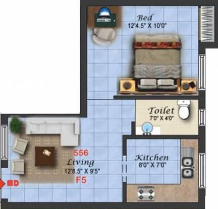 Vesta Sankar (1BHK+1T (556 sq ft) Apartment 556 sq ft)