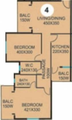 CV Darius Horizon (2BHK+2T (1,022 sq ft) Apartment 1022 sq ft)