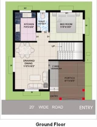 Indo Ratnamani Vihar (3BHK+3T (1,357 sq ft) Villa 1357 sq ft)