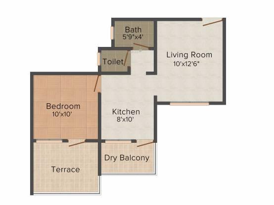 Ganesh Gods County (1BHK+1T (610 sq ft) Apartment 610 sq ft)