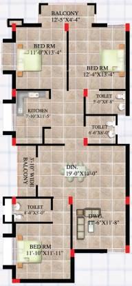 Shree Ganesh Rashmi Elegance (3BHK+3T (1,685 sq ft) Apartment 1685 sq ft)