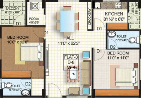 Sardar Nest (2BHK+2T (1,050 sq ft) Apartment 1050 sq ft)