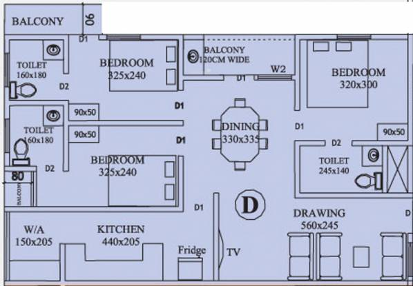 Anta River Valley (3BHK+3T (1,220 sq ft) Apartment 1220 sq ft)