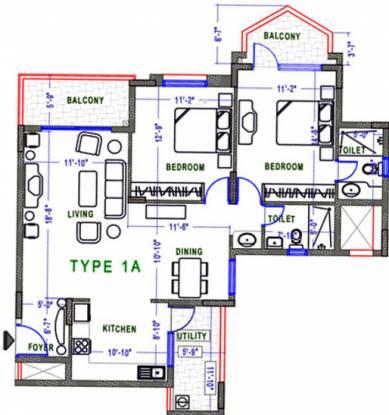 NCC Nagarjuna Maple Heights (2BHK+2T (1,333 sq ft) Apartment 1333 sq ft)