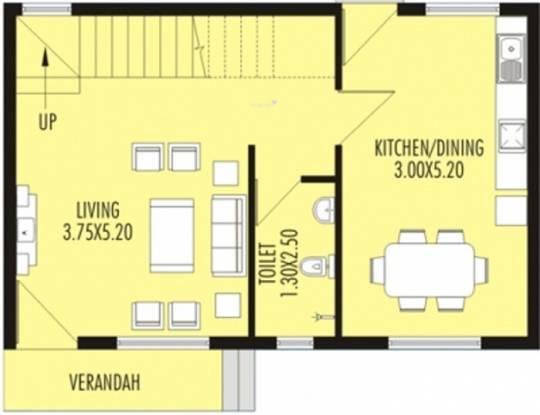 Nanu Sapana Orchid (2BHK+2T (1,147 sq ft) Villa 1147 sq ft)