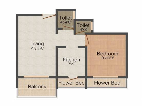 Anita Bhaveshwar Heights (1BHK+1T (650 sq ft) Apartment 650 sq ft)