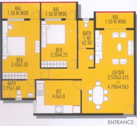 Devashri Vasant Vihar (2BHK+2T (1,348 sq ft) Apartment 1348 sq ft)