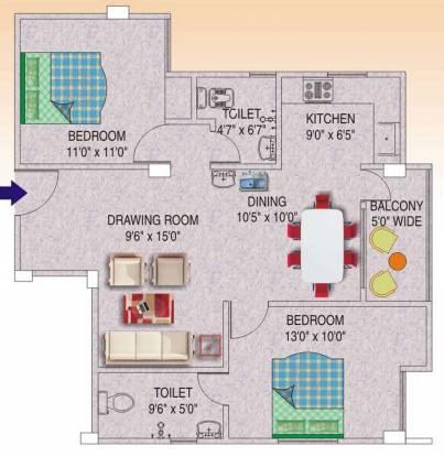 Sunrise Narayan Palace (2BHK+2T (1,050 sq ft) Apartment 1050 sq ft)