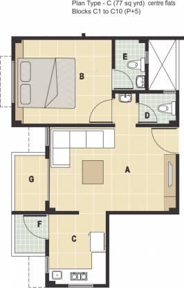 Rudra Aarambh (1BHK+2T (693 sq ft) Apartment 693 sq ft)