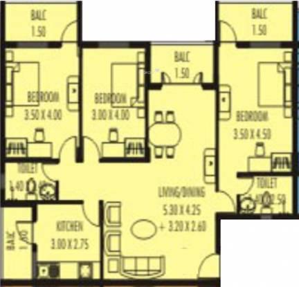 Nanu Sapana Habitat (3BHK+3T (1,425 sq ft) Apartment 1425 sq ft)