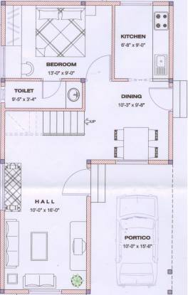 Tristar Triveni West (3BHK+3T (1,750 sq ft) Villa 1750 sq ft)